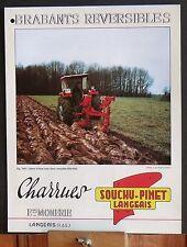 ▬►Prospectus Brabants Reversibles SOUCHU-PINET Tracteur Someca Massey IH