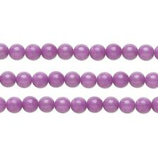 Round Malaysia Jade Beads (Dyed) Light Purple 4mm 16 Inch Strand