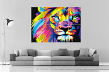 Lion abstract Abstrait  Color Home DECO  Wall Art Poster Grand format A0