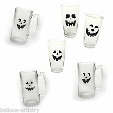 16 haunted halloween spooky ghost face beverage glass cup autocollants s'accroche