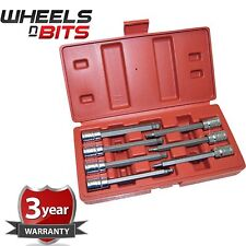 "7pc 3/8"" Drive Long Hex Ball End Bit CRV Socket Set Tool New Allen Key"