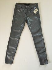 NWT Joes Jeans The Skinny in a metallic silver sparkle 28 $225