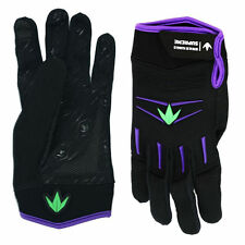 New Bunker Kings Paintball Supreme Gloves - Size Small / Med Purple / Lime Green