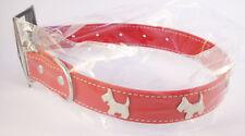 Collier Rouge pour chien avec motifs: 4 Chiens - Tour de cou  30 - 40 cm
