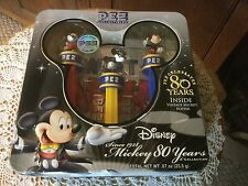 NIB PEZ Collectibles.  Disney Mickey 80 Years.  A Collection of 3.  Poster.