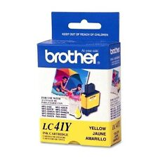 NEW GENUINE Brother LC41Y Yellow Ink Cartridge