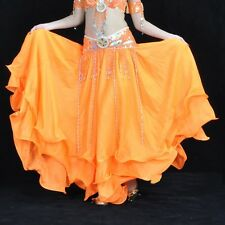 SK01# Belly Dance Costume Flamenco 3 Layers Skirt 12 Colors