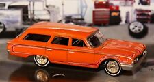 1960 60 Ford Country Squire Station Wagon  ☆ 1/64 Muscle Car Rubber Tires