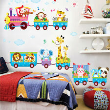 Carton Animals train Removable Kids Baby Nuresery Vinyl Wall Stickers Art Decor