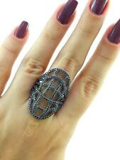 Turkish Handmade 925 Sterling Silver Fashion Jewelry Onyx Ring Size 8.5 R2376