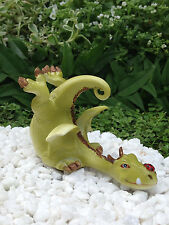 Miniature Dollhouse FAIRY GARDEN ~ Green Dragon Playing with Ladybug ~ NEW