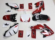 Black Plastics & 3M Star Decals Graphics For Honda CRF50 XR50 bike Thumpstar SSR