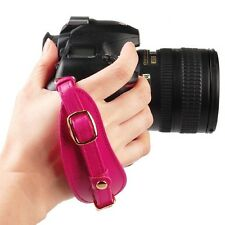 CIESTA Camera Leather Hand Grip Strap (Pink) w/ Plate for Canon NIKON SONY DSLR