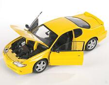 BLITZ VERSAND Chevrolet Monte Carlo SS 2004 gelb Welly Modell Auto 1:24 NEU OVP