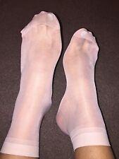 Nude Suave Seda Calcetines al tobillo calcetines para mujer usado