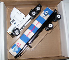2002 Anderson ATS Winross Diecast Flatbed Trailer Truck With White Wrap Load