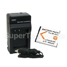 Battery + Charger Combo Kit For Sony NP-BN1 Cyber Shot DSC-W510 W530 W560 W570