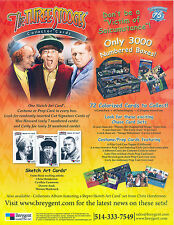 THREE 3 STOOGE 2005 BREYGENT PROMO PROMOTIONAL SALE SELL SHEET MOE LARRY CURLY