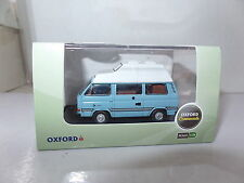 Oxford 76T25009 T25009 1/76 OO Volkswagan VW T25 HiTop Camper Medium Blue  White