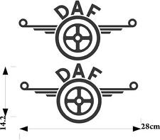 DAF logo stickers 2 x for bodywork glass and clean hard surface