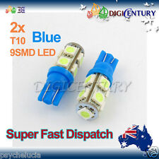 LED 2X T10 BLUE 9SMD 5050 for Car Side Light Parker Bulb Lamp DC 12V