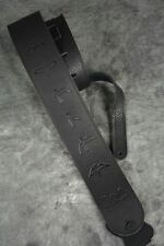 NEW PRS LEATHER BIRD GUITAR OR BASS STRAP BLACK BIRDS SOFT PAUL REED SMITH