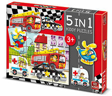 King Vehicles 5-In-1 Kiddy Puzzles 2-12 Pieces - Brand New Jigsaw