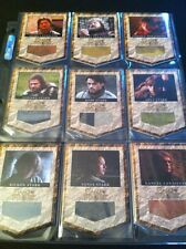 Game of Thrones Costume RELIC Card set of 9  BANNER HBO GOT Prop VARIANT. RARE