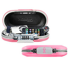 Master Lock Pink Portable Personal Safe Travel Security Medication Lock Box