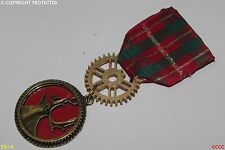 Steampunk Medal pin drape badge brooch stag deer red tartan Scottish scotland