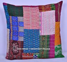"""24"""" INDIAN COLORFUL SILK VINTAGE TOSS PILLOW CUSHION THROW Cover Ethnic Decor"""