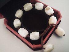 Magnifique Bracelet  Homme/Femme en Perles de Jade Vert Clair