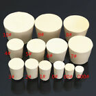 5Pcs Laboratory Rubber Plug Stopper Bungs Flask Tapered Tube Solid White 13 Size