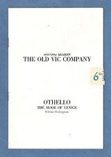 """Richard Burton """"OTHELLO"""" John Neville / John Wood 1956 Old Vic London Program"""