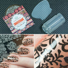 Born Pretty 1*Nagel Stamping Schablone Platte 1*Clear Jelly Stamper&Schabe