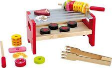 Tischgrill Spieß für Kinder Holz Küche Grillen Tisch-Grill Kindergrill Spielzeug