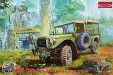 DODGE M37 3/4 TON MILITARY CARGO TRUCK (CANADIAN AND U.S. ARMY MKGS) 1/35 RODEN