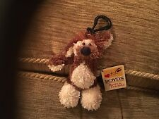 BOYDS BEARS & FRIENDS LIL WALLIE GOOFY GOMER SOFT TOY KEY CLASP KEYRING SOFT TOY