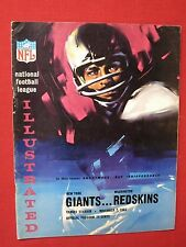 1965 NOV. NFL ILLUSTRATED / PROGRAM ~ GIANTS VS REDSKINS ~ YANKEE STADIUM