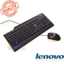 Ensemble LENOVO USB clavier Français AZERTY + souris optique pour PC fixe