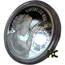 Veritas Lux Mea Truth Is My Light 1 oz .999 fine silver Semi Proof Small Reed