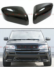 2006-2010 LAND RANGE ROVER BLK CARBON FIBER SIDE MIRROR COVER CAPS OVERLAY PAIR