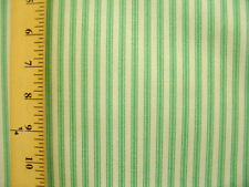 Waverly Timeless Ticking Pear 100% Cotton Green White Stripe Upholstery Fabric