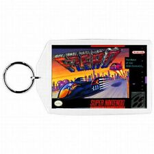 Super Nintendo Snes F-ZERO Game Box Cover Cartridge Keychain