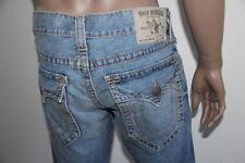 True Religion Men Blue Ricky Straight Denim Jeans MQ2A401MK3 33 X 34 $321