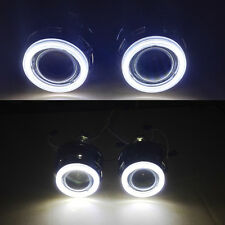 2pcsx 2.5''  HID Bi-xenon Projector lens White Angel Eye Halo+ Shroud HI/LO Beam