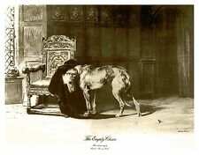 Irish Wolfhound Print, The Empty Chair