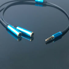 3.5mm 1 to 2 Dual Y Splitter Cable Adapter Earphone Headphone Jack Hot