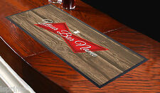 PERSONALISED RED LABEL WOOD BACKGROUND RUNNER IDEAL FOR HOME PUB OCCASION