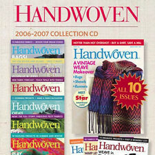 10 Issues on CD: HANDWOVEN MAGAZINE 2006 - 2007 Weaving Tapestry Indigo Dyeing
